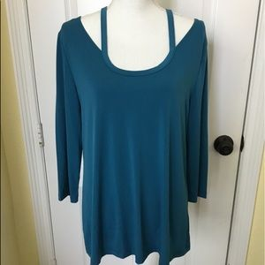 Slinky Brand L Green/Blue Tunic Soft